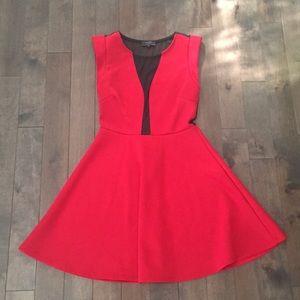 Guess red mesh scuba dress - size medium